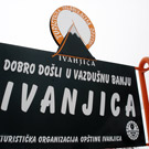 Application of emblem of Ivanjica on the road Arilje-Ivanjica