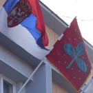 Flag use in front of Jagodina city assembly