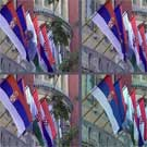 Flag use in front of Subotica city assembly