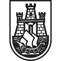 Stylization of Belgrade arms, used as coat of arms until 1991.